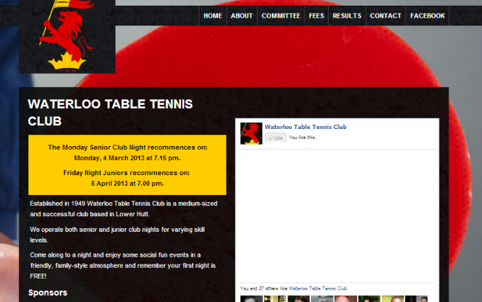 Waterloo Table Tennis Club
